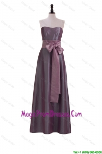 Brand New Sweetheart Belt and Bowknot Prom Dresses in Brown