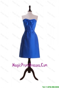 Discount Style Royal Blue Short Prom Dresses with Belt for 2016
