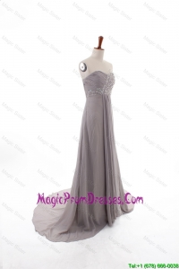 2016 Winter Sexy Empire Sweetheart Prom Dresses with Brush Train