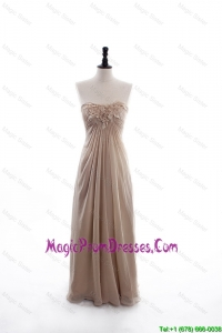 Perfect Empire Sweetheart Ruching Prom Dresses with Hand Made Flowers
