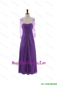 Recommend Empire Strapless Prom Dresses with Ruching in Eggplant Purple