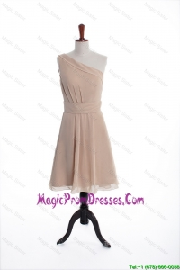 Inexpensive Champagne Short Prom Dresses with Belt for Holiday