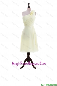 Most Popular Light Yellow Prom Dresses with Hand Made Flowers