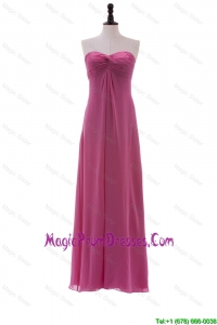 Recommend Sweetheart Ruching Long Prom Dresses in Chiffon