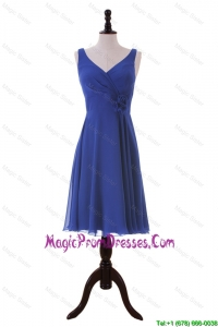 Recommend Royal Blue Hand Made Flower Short Prom Dresses for Holiday