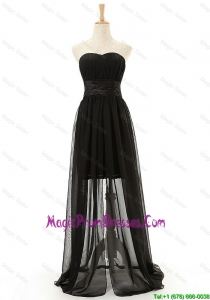 Brand New Sweetheart Belt Long Prom Dresses in Black