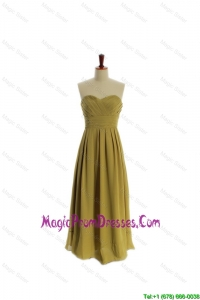 Cheap A Line Olive Green Olive Green Long Prom Dresses
