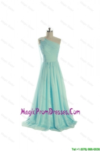 Simple Most Popular Appliques 2016 Prom Dresses with Brush Train