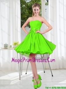 2016 Summer A Line Sweetheart Prom Dresses in Spring Green