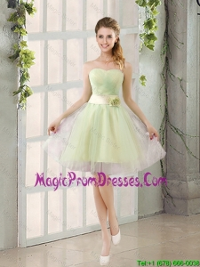 Custom Made A Line Strapless Prom Dresses with Belt