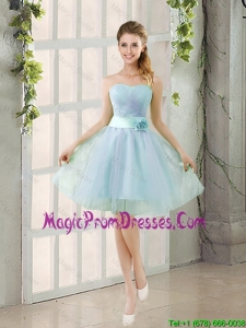 Romantic A Line Strapless Prom Dresses with Ruching