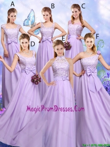 Popular Laced and Bowknot Prom Dresses with Empire
