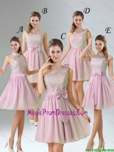 2016 Summer A Line Lace Prom Dresses with Hand Made Flower