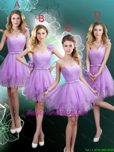 Cheap Hand Made Flowers Prom Dresses with One Shoulder
