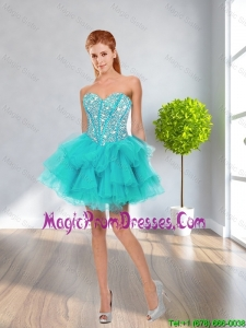 Latest Ball Gown Sweetheart Beaded Prom Dresses in Multi Color