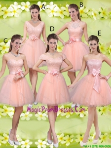 Suitable A Line Hand Made Flowers Prom Dresses with Appliques