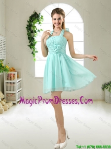 Wonderful Hand Made Flowers Prom Dresses in Apple Green