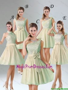Custom Made A Line Lace Prom Dresses with Hand Made Flower