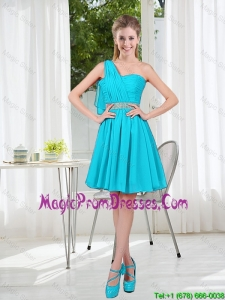 Beautiful A Line One Shoulder Prom Gowns for Party