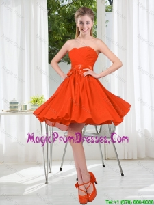 Custom Made Sweetheart Short Prom Gowns with Belt
