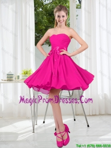 Custom Made Sweetheart Short Prom Gowns with Bowknot