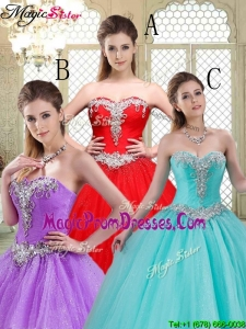 Elegant Sweetheart Brush Train Prom Dresses with Beading