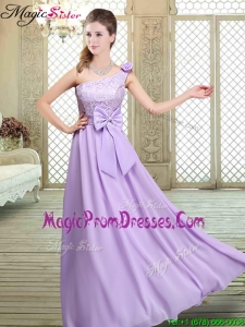 2016 Fashionable Spring High Neck Lace Lavender Prom Gowns