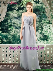 New Style Empire Sweetheart Prom Dresses with Hand Made Flowers