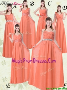 Recommend Empire Floor Length Prom Dresses with Ruching and Belt