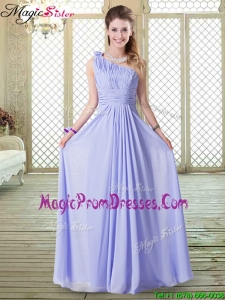 Recommend Square Cap Sleeves Lavender Prom Dresses with Belt