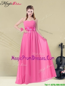 Recommend Sweetheart Prom Dresses with Ruching and Belt