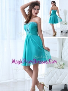 Lovely Mini Length Sweetheart Beading Prom Dress