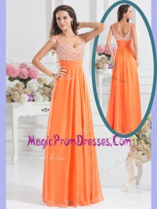 New Empire Spaghetti Straps Beading Prom Dress for Fall