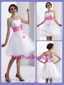 New Lovely A Line Sweetheart Prom Dresses with Hand Made Flowers