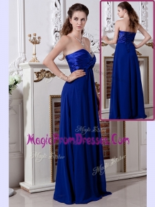 Exclusive Empire Sweetheart Long Prom Dress in Royal Blue