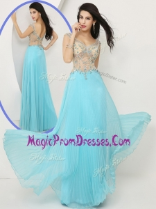 2016 Hot Sale Wonderful Empire Straps Prom Dresses with Beading