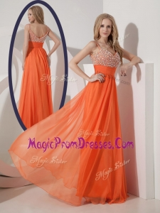 Perfect Empire Spaghetti Straps Beading Prom Dress