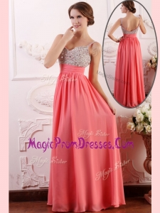 Perfect Empire Straps Watermelon Prom Dress for Celebrity