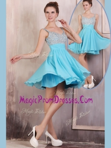 Perfect Straps Mini Length Beading Prom Dress for Summer