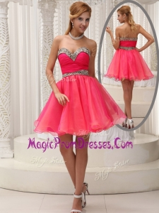 Perfect Sweetheart Belt Short Prom Dress for Fall