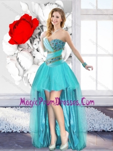 A Line Sweetheart Fashionable Prom Gowns with Beading