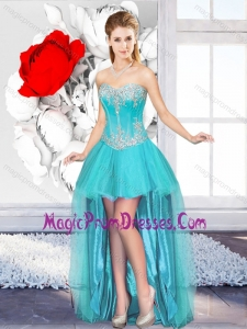 A Line Sweetheart Impressive Prom Dresses with High Low