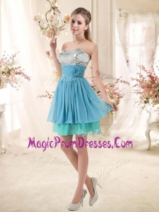 Impressive Sweetheart Prom Dresses with Sequins and Hand Made Flowers