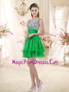 Perfect Short Straps Prom Dresses with Sequins for Fall