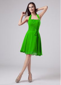 Enchanting Sleeveless Chiffon Knee Length Zipper Dress for Prom in with Ruching