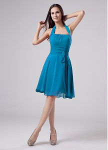 Chiffon Sleeveless Knee Length Homecoming Dress and Belt