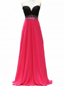Taffeta Sleeveless Floor Length Prom Gown and Beading