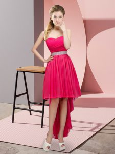 Admirable Sweetheart Sleeveless Chiffon Beading Lace Up