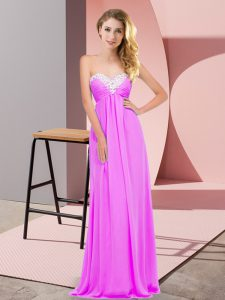 Lilac Celebrity Inspired Dress Prom and Party with Ruching Sweetheart Sleeveless Lace Up