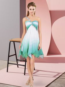 Multi-color Sleeveless Fading Color Lace Up Prom Dress for Prom and Party